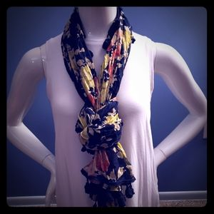 Express floral scarf with tassel
